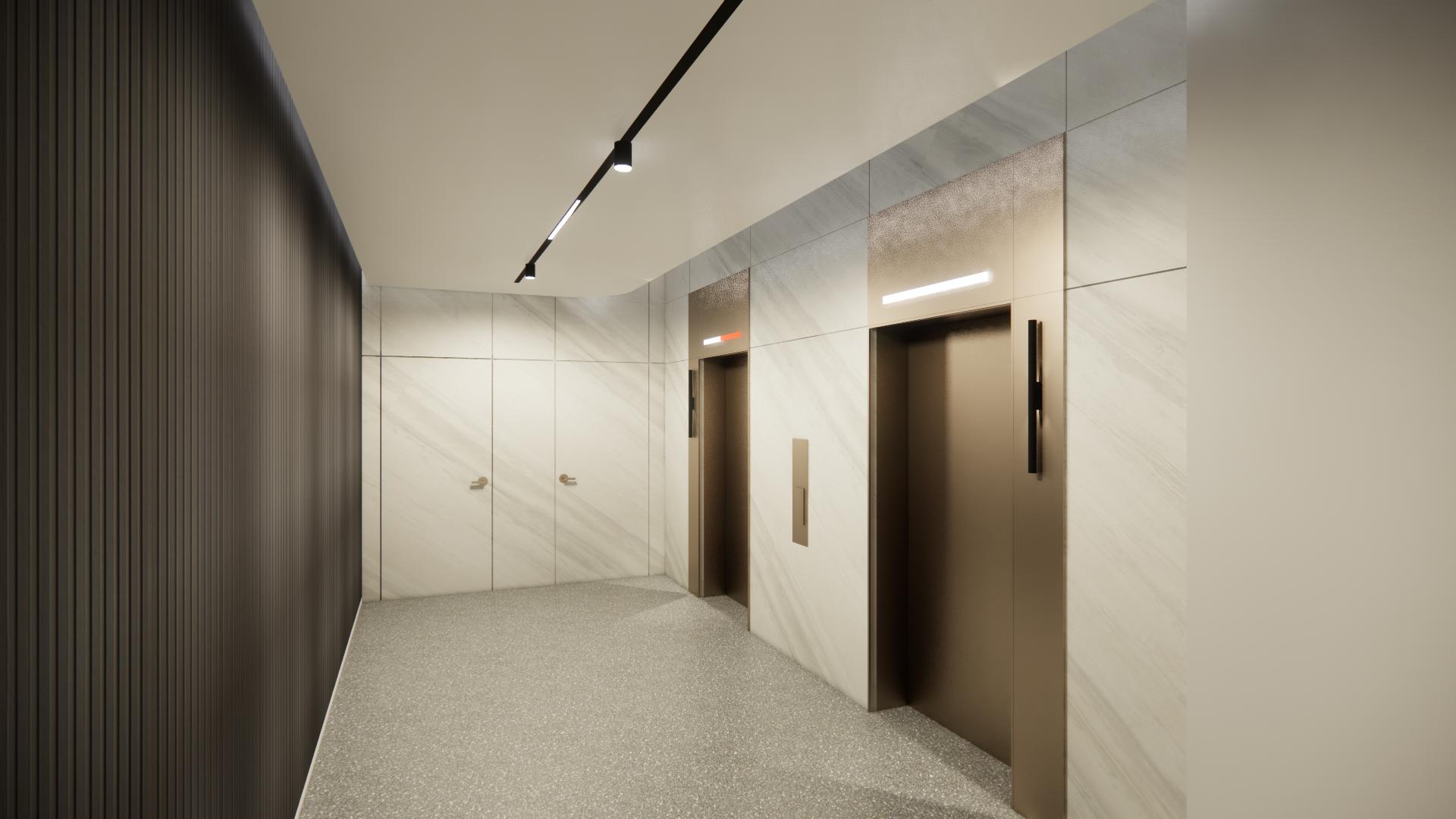 LOBBY PERSPECTIVE - ELEVATOR